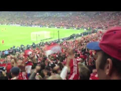 Champions League – Crazy crowd footage including goal. Fc Bayern vs. Dortmund
