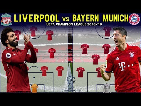 BIG MATCH!!LIVERPOOL FC vs FC BAYERN MUNICH Predicted Lineup |CHAMPIONS LEAGUE 2018/2019|