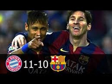 Bayern Munich vs FC Barcelona 11-10 All Goals (English Commentary) 2009/2015 HD 720p