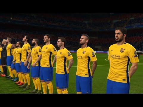 PES 2016 UEFA Champions League Final (FC Bayern Munich vs FC Barcelona Gameplay)