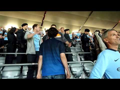 Bayern Munich v Man City 17th Sept 14 – Bayern fans in city section plus end of match applause