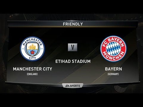 FIFA 18 MANCHESTER CITY VS BAYERN MUNICH XBOX ONE PS4 PC FULL MATCH GAMEPLAY HD