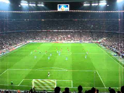 Championsleague FC Bayern München vs Manchester City 27.09.2011- Torjubel 1:0 in Allianz Arena