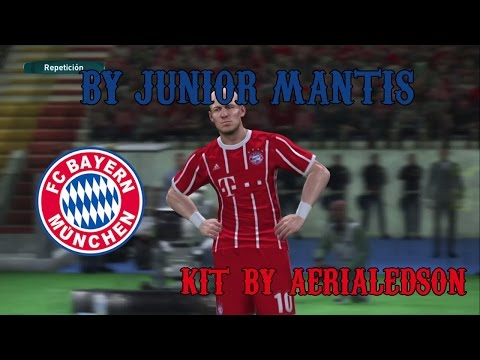 Kit Home FC Bayern München Temp. 2017-18 || PES 2017 PS4 || Kit By AerialEdson