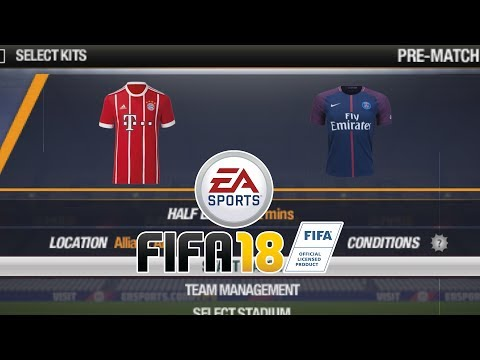 FIFA 18 Android/PPSSPP – FC Bayern and PSG Jersey Preview