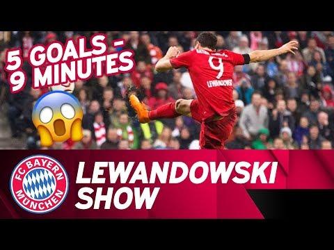 5⃣  Goals in 9⃣  Minutes: Lewandowski Show | Time Lapse | FC Bayern – VfL Wolfsburg