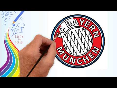 How to Draw FC Bayern München Badge – Drawing the Bayern München Logo | Drawing logo Channel