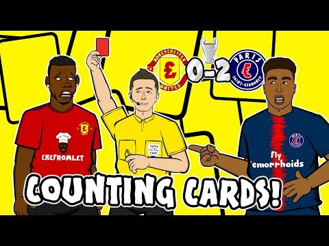 🔴POGBA RED CARD – Counting Cards!🔴 Man Utd vs PSG 0-2 Parody Song Goals Highlights
