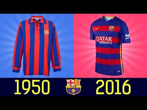 All FC Barcelona Football Kits in History  ||1920 – 2016||