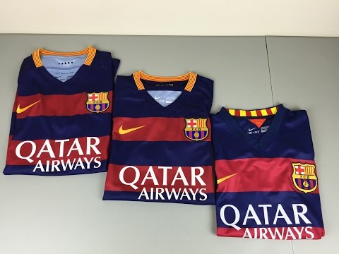 Authentic vs Replica vs Fake 2015/2016 FC Barcelona Home Jerseys – Comparison [4K]