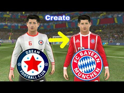 How To Create BAYERN MUNICH Team ★ Kit Logo & Players ★ Dream League Soccer 2018