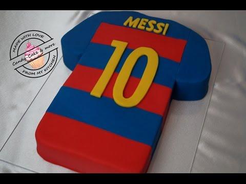 FC Barcelona Messi Trikot – Torte I Trikottorte I  Fussballtrikot I Fondant Cake I Motivtorte