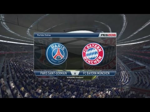 PES 2016 Gameplay Online (PS3) PSG vs Bayern Munich 9 GOALS