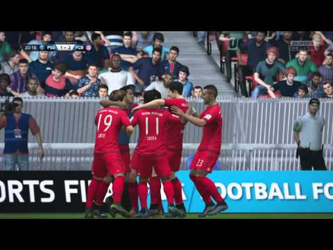 FIFA 16 Online seasons PS4-Bayern vs psg domination 1st half