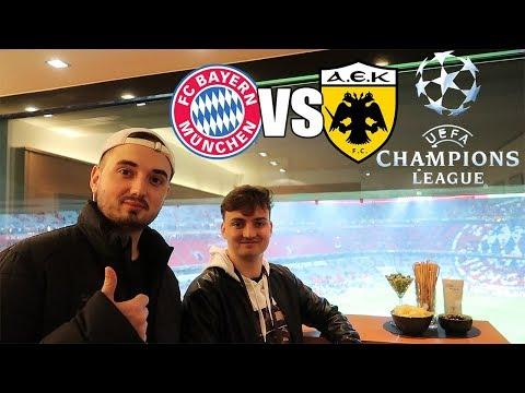 VIP STADIONVLOG AUS DER 150.000 EURO LOGE | FC Bayern – AEK Athen