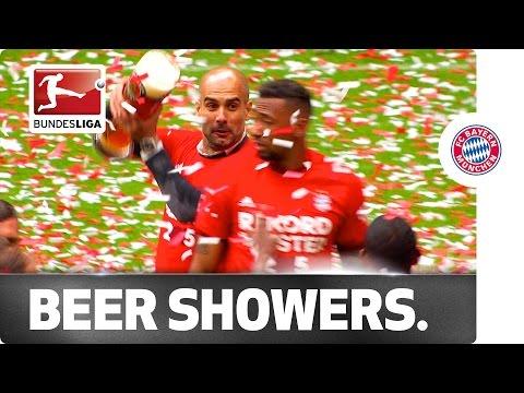 """Meisterschale"" and Beer Showers – Bayern Celebrate the Bundesliga Title"