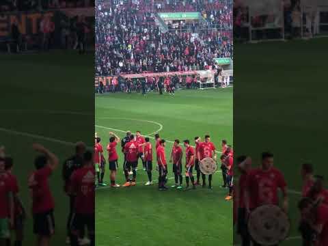 FC Bayern München Deutscher Fußball Meister 2018 (nach dem Spiel gegen den FCA 07.04.2018)