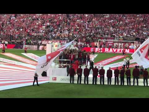 FC Bayern Meisterfeier 2018 LIVE aus der Allianz Arena | Meisterschale | 12.05.2018