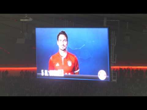 champions league, Bayern V Arsenal (15/02/2017), Bayern line up presentation | dynekTV