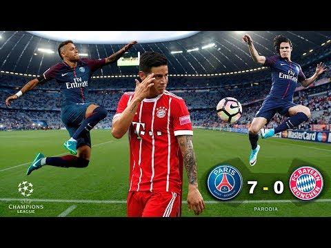 PSG 7 – 0 BAYERN MÚNICH – UEFA CHAMPIONS LEAGUE 2017 – PARODIA