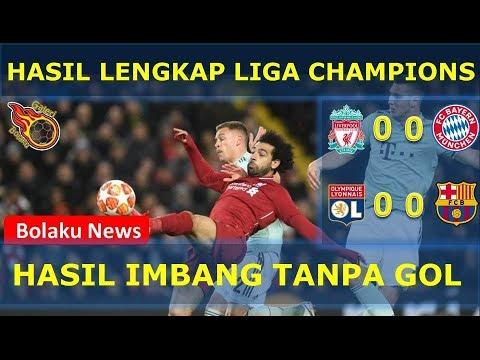 Hasil Lengkap Liga Champions Tadi Malam | Liverpool Vs Bayern | Lyon Vs Barcelona
