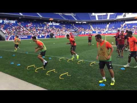 Bayern München Training Drills Before Real Madrid Match