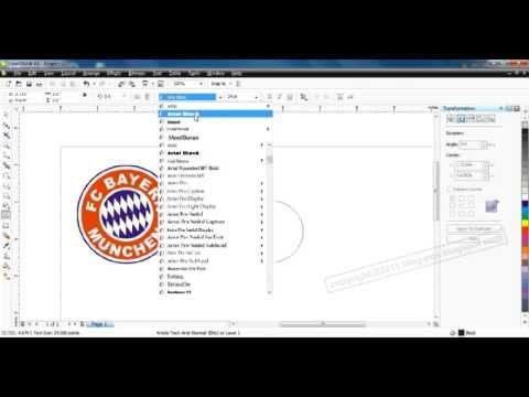 Logo Bayern – Video Tutorial Cara Membuat Logo Bayern Munchen Menggunakan CorelDraw