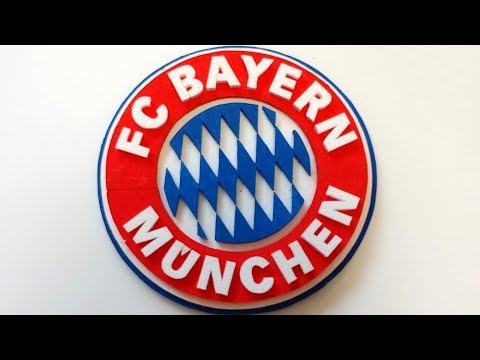 How to make 3d FC Bayern München logo/mark/ emblem  -Foam Art-