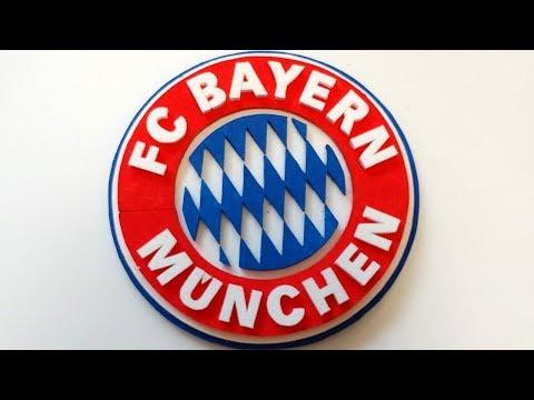How to make 3d FC Bayern München logo/mark/ emblem  -Foam Art-