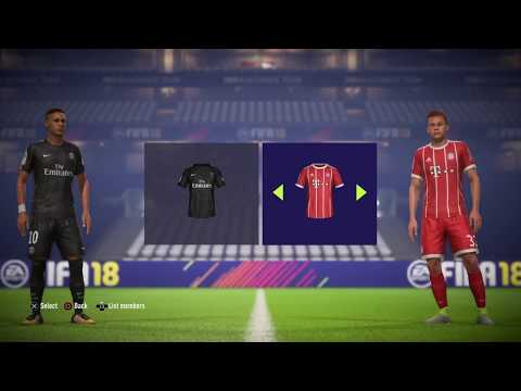 FIFA 18 PS4 Slim Online vs Edwin Gameplay #2 PSG vs FC Bayern
