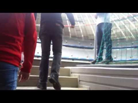FC Bayern Munchen Slovenija Fan Club….Alainz Arena/players tunnel! 25.5.2013