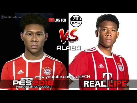 PES 2018 vs REAL LIFE | FACES COMPARISON | FC BAYERN MÜNCHEN | FULL HD | LuisFCH