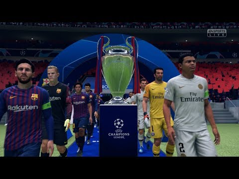 FIFA 19 | FC Barcelona vs PSG – Full UEFA Champions League Final Gameplay (Xbox One X)