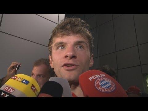 """FC Bayern gewinnt gegen Al-Merrikh SC – Müller: """"Hätten höher gewinnen müssen"""" (Doha, 09.01.2014)"""