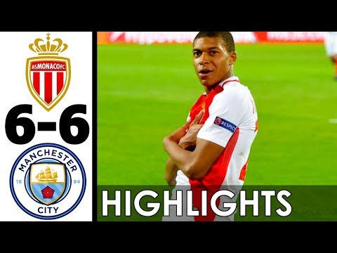 AS Monaco vs Manchester City 6-6 Goals and Highlights w/ English Commentary 2016-17 HD 720p