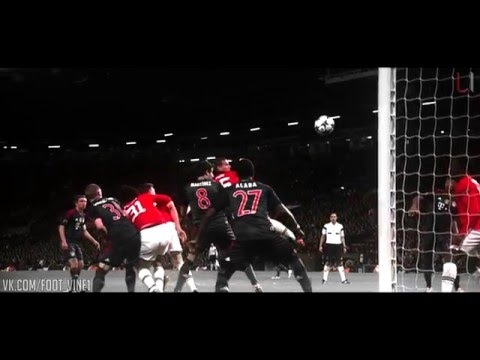 Nemanja Vidic goal vs Bayern Munich | Football Vine