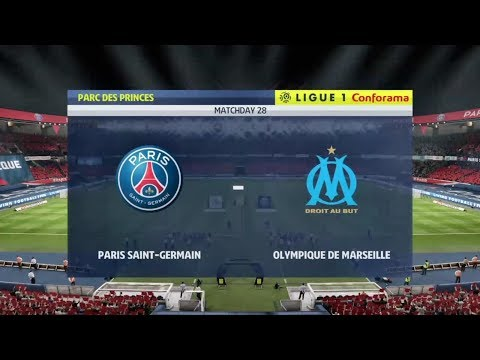 Paris saint Germain Vs olympique de Marseille ligue1 Balotelli lineup and result prediction FIFA19