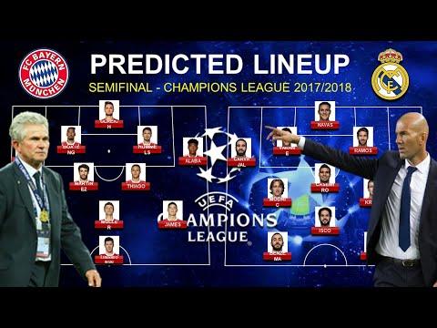 PREDICTED LINEUP: Bayern Munchen vs Real Madrid – Semi-finals Champions League 2017/2018