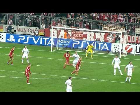 Bayern vs. Real – 17.04.2012 – Allianz Arena – Tor zum 2 : 1 durch Mario Gomez – LIVE !!!