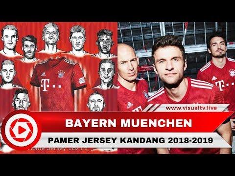 Bayern Muenchen Pamer Jersey Kandang 2018-2019