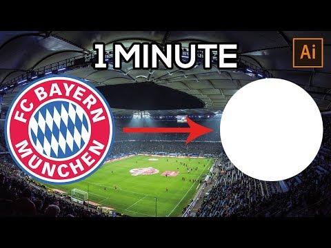 FC BAYERN MUNICH LOGO IN 1 MINUTE