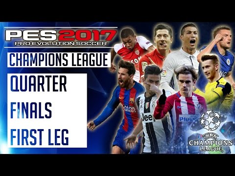 Bayern Munich vs Real Madrid : PES 2017 UEFA Champions League – Quarter Finals First Leg