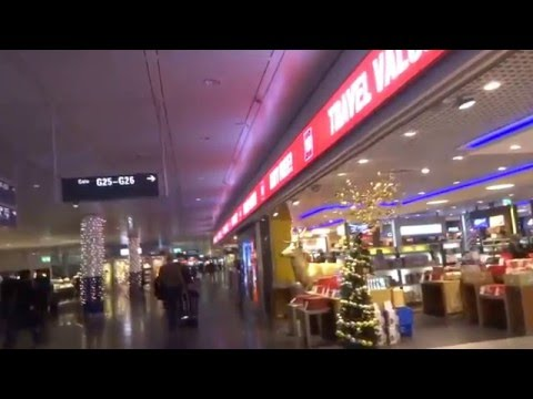 Aruna & Hari Sharma Duty free Christmas shopping at Munich Airport Terminal 2, Dec 06, 2015