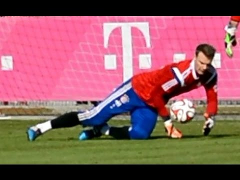 Manuel Neuer – Low diving Saves – Goalkeeper Training – Torwarttraining | FC Bayern Munich