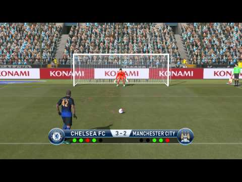 Chelsea fc vs Manchester city fc penalty shootout in pes 2015