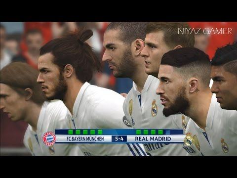 Bayern Munich vs Real Madrid | UEFA Champions League | Penalty Shootout | PES 2017 Gameplay