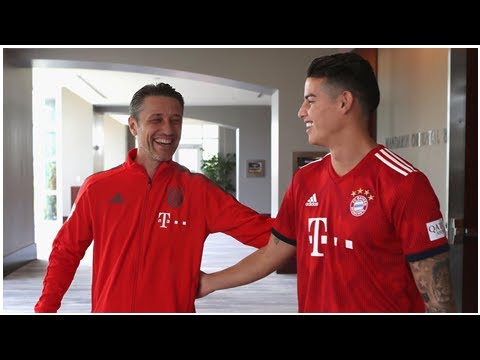 James absolviert komplettes Training des FC Bayern