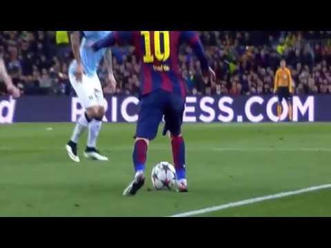 El impresionante Caño De Messi A Milner   Barcelona FC Vs Manchester City -Reaccion de pep guardiola