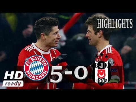 Bayern Munich 5-0 Besiktas All Goals & Highlights UCL 20/2/2018 HD