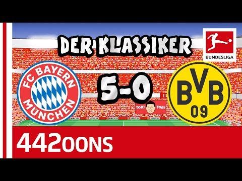 FC Bayern München vs. Borussia Dortmund   5-0   Der Klassiker – Highlights Powered by 442oons
